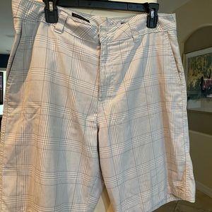 """Mens O'Neill 34"""" Gray & White Shorts"""